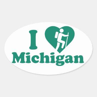 Sticker Ovale Hausse Michigan