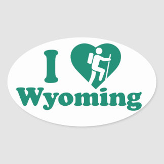 Sticker Ovale Hausse Wyoming