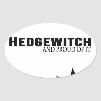 Sticker Ovale Hedgewitch et fier de lui