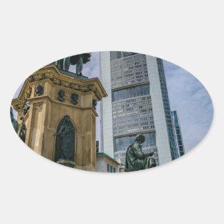 Sticker Ovale Horizon de Francfort