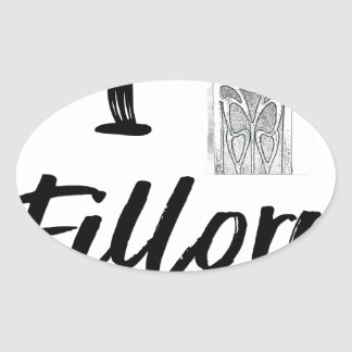 Sticker Ovale I (horloge) Fillory