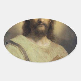 Sticker Ovale Image du seigneur - Heinrich Hofmann