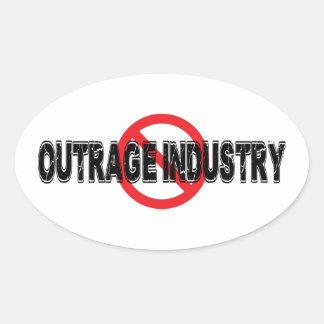 Sticker Ovale Industrie d'outrage d'interdiction