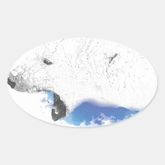 Sticker Ovale Iorek, ours blindé de ses matériaux foncés