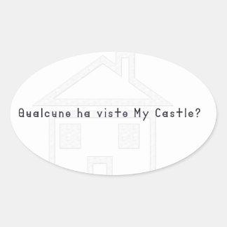 Sticker Ovale Italien-Château