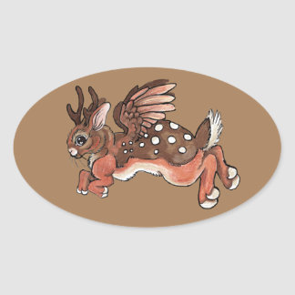 Sticker Ovale Jackalope/Worpletinger sautant