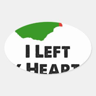 Sticker Ovale J'ai laissé mon coeur en Zambie