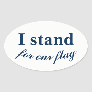 Sticker Ovale Je représente notre drapeau !