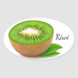 Sticker Ovale Kiwis