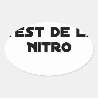 Sticker Ovale La Directive Nitrates, c'est de la Nitro - Jeux de