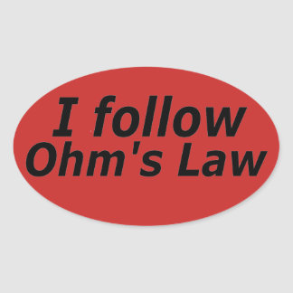 Sticker Ovale La loi d'ohm