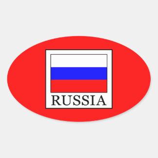 Sticker Ovale La Russie