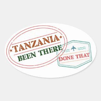 Sticker Ovale La Tanzanie là fait cela