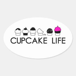 Sticker Ovale La vie de petit gâteau