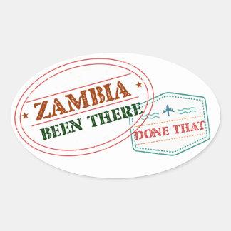 Sticker Ovale La Zambie là fait cela
