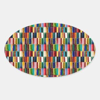 Sticker Ovale L'allumeur de gaz écosse le collage créatif d'art