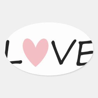 Sticker Ovale l'amour vivant enseignent