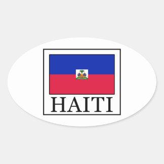 Sticker Ovale Le Haïti