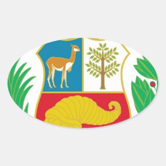 Sticker Ovale Le Pérou - escudo Nacional (emblème national)