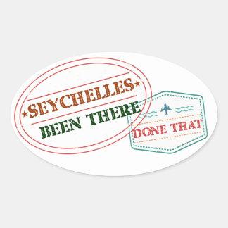 Sticker Ovale Les Seychelles là fait cela