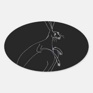 Sticker Ovale lièvres magiques