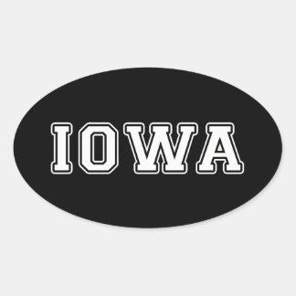 Sticker Ovale L'Iowa