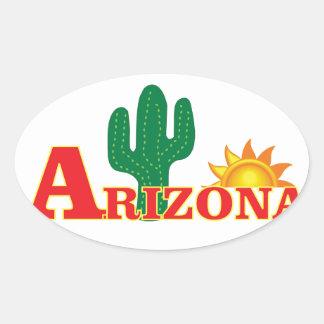 Sticker Ovale Logo de l'Arizona simple