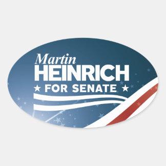 Sticker Ovale Martin Heinrich pour le sénat