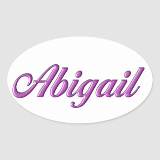 Sticker Ovale Nom d'autocollant d'Abigaïl