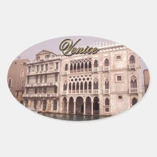 Sticker Ovale Palais de Ca D'Oro - Venise, Italie
