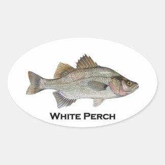 Sticker Ovale Perche blanche