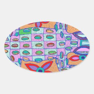 Sticker Ovale Plage Croc sans valeur