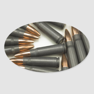 Sticker Ovale point creux des munitions 7.62x39mm de munitions