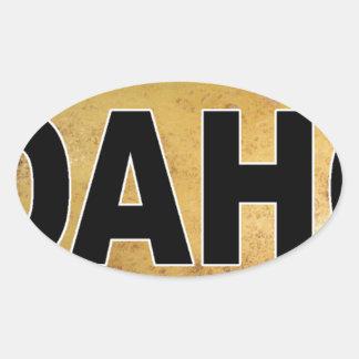Sticker Ovale Pommes de terre ovales de décalque de voiture