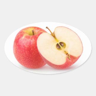 Sticker Ovale Pommes rouges