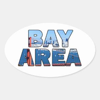 Sticker Ovale Région de Baie de San Franciso
