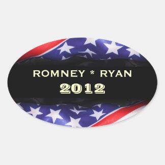 Sticker Ovale Romney/autocollant ovale de Ryan 2012