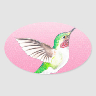 Sticker Ovale Rose de Hummer