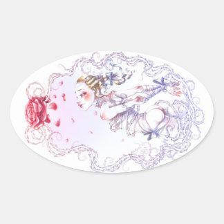Sticker Ovale Rose de Versailles