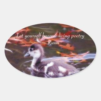 Sticker Ovale Rumi deviennent poésie vivante