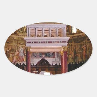Sticker Ovale saint changez dans l'église