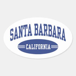 Sticker Ovale Santa Barbara la Californie