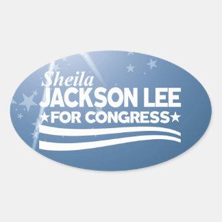 Sticker Ovale Sheila Jackson Lee