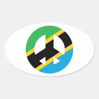 Sticker Ovale Symbole de paix tanzanien