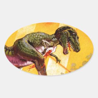Sticker Ovale T-Rex contre le réservoir de Sherman