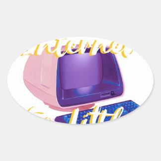 Sticker Ovale Tellement Internet tellement peu d'heure