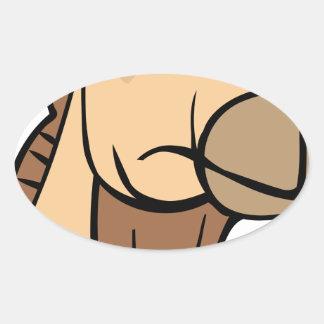 Sticker Ovale Tête de chameau