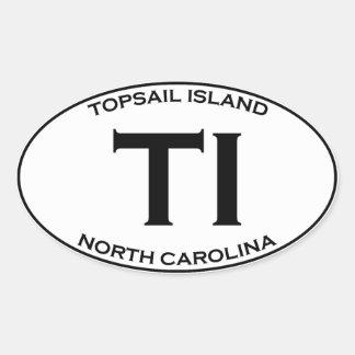 Sticker Ovale TI - île la Caroline du Nord de hunier