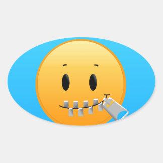 Sticker Ovale Tirette Emoji