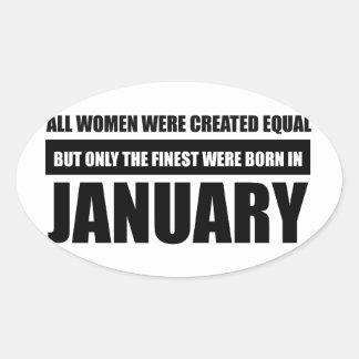 Sticker Ovale Toutes les femmes étaient des conceptions égales